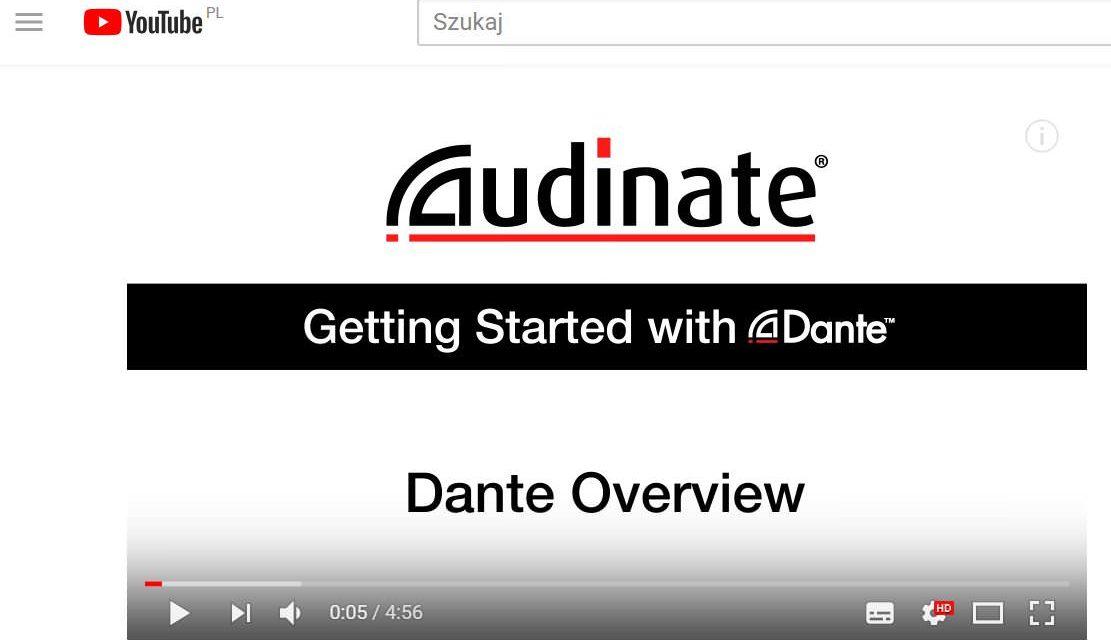 Wstęp do technologii Dante