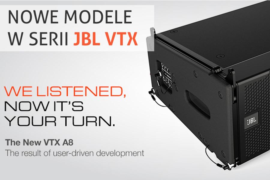 Flagowa seria JBL VTX coraz większa